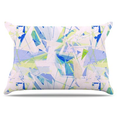 Shatter Pillowcase Size: King, Color: Blue