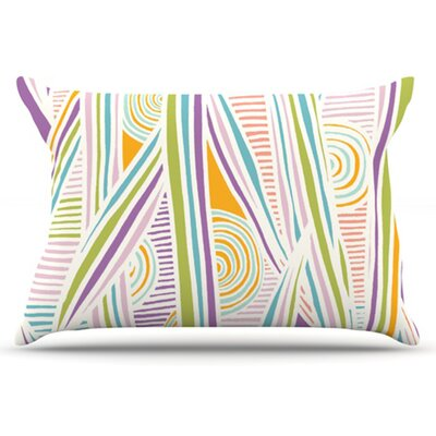 Graphique Pillowcase Size: Standard, Color: White