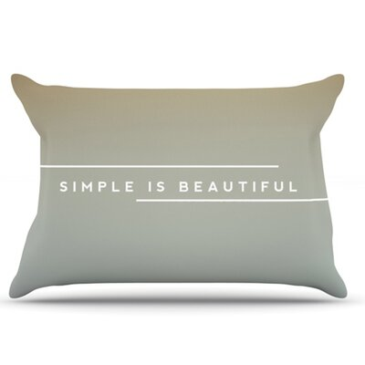 Simple Beautiful Pillowcase Size: Standard