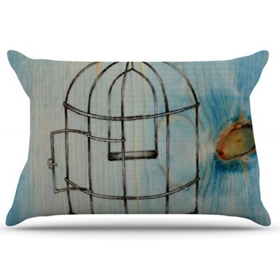 Bird Cage Pillowcase Size: King