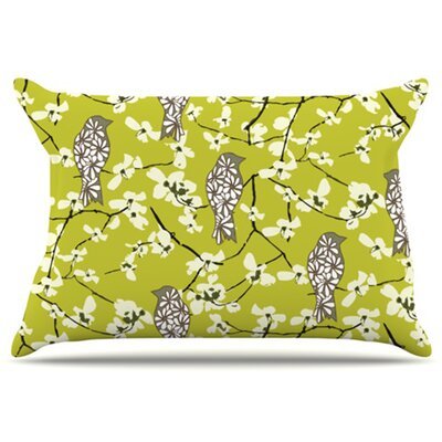 Blossom Bird Pillowcase Size: Standard
