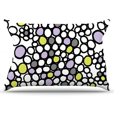 Pebbles Pillowcase Size: King, Color: Lilac