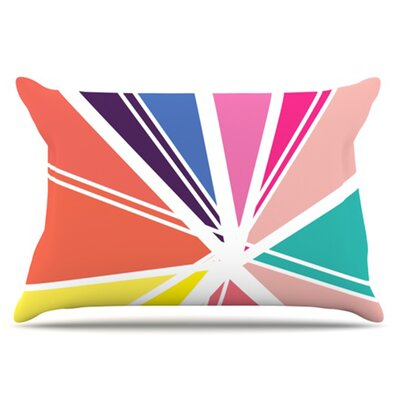 Boldly Bright Pillowcase Size: King