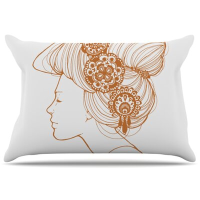 Jennie Penny Pillowcase Size: Standard, Color: White