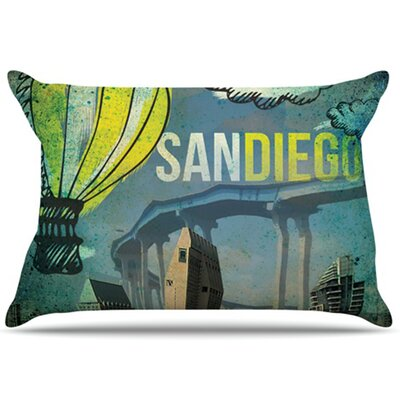 San Diego Pillowcase Size: Standard