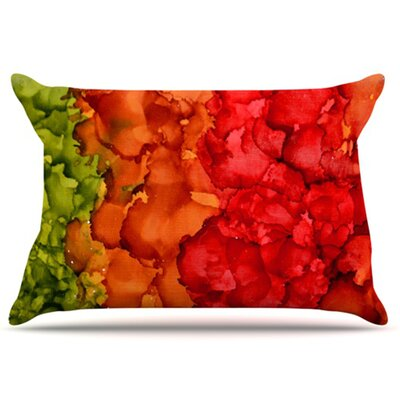 Fall Splatter Pillowcase Size: Standard