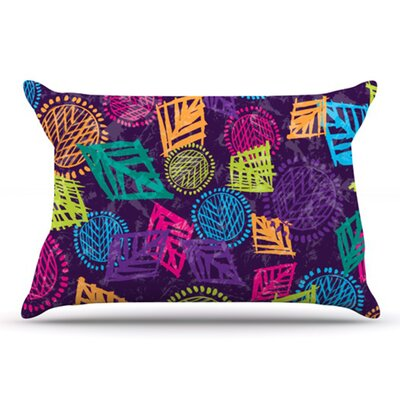 African Beat Pillowcase Size: King, Color: Purple