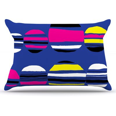 Retro Circles Pillowcase Size: King, Color: Cobalt