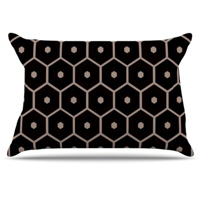 Tiled Mono Pillowcase Size: Standard