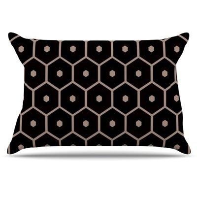 Tiled Mono Pillowcase Size: King
