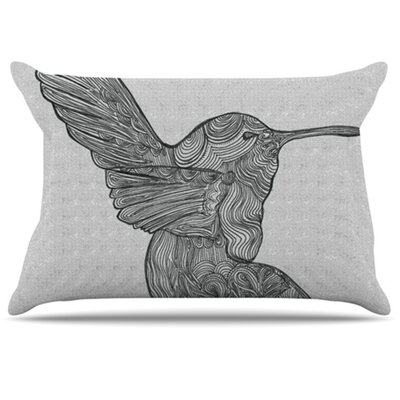 Hummingbird Pillowcase Size: King