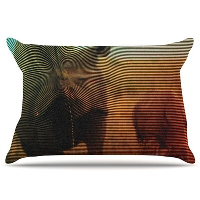 Abstract Rhino Pillowcase Size: King