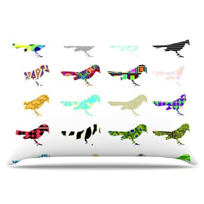 Birds Pillowcase Size: Standard