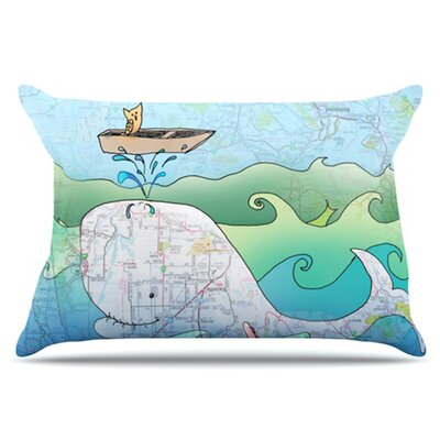 Im on a Boat Pillowcase Size: Standard