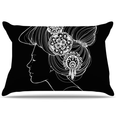 Jennie Penny Pillowcase Size: Standard, Color: Black