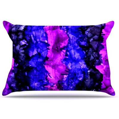 Drop Pillowcase Color: Purple, Size: King
