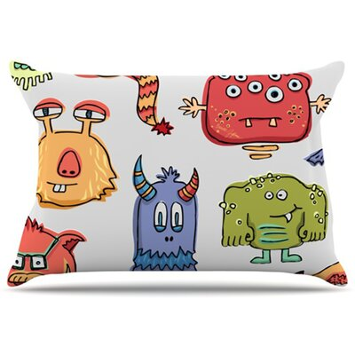 Little Monsters Pillowcase Size: Standard