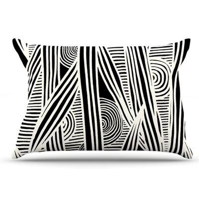 Graphique Pillowcase Color: Black, Size: King