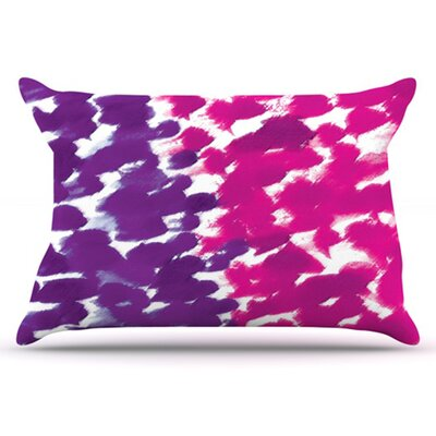Fleeting Pillowcase Size: King, Color: Purple