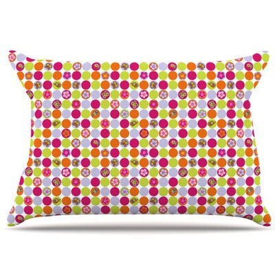 Happy Circles Pillowcase Size: Standard