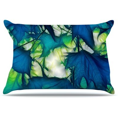 Leaves Pillowcase Size: Standard