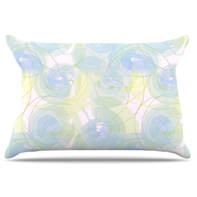 Paper Flower Pillowcase Size: King