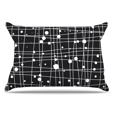 Woven Web Mono Pillowcase Size: Standard