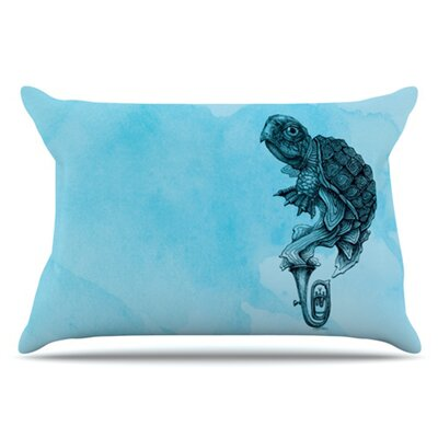 Turtle Tuba III Pillowcase Size: Standard
