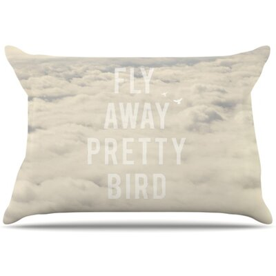 Fly Away Pretty Bird Pillowcase Size: King