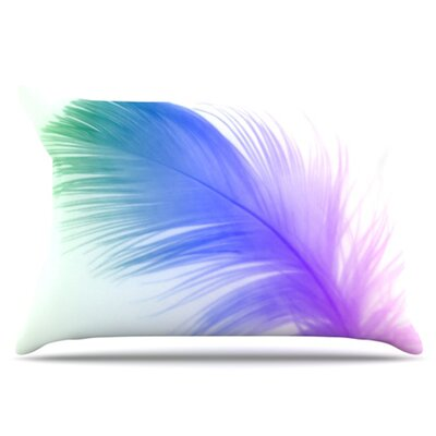 Feather Pillowcase Size: King