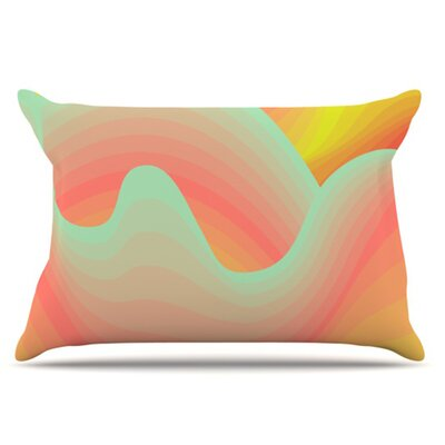 Way of the Waves Blossom Bird Pillowcase Size: King