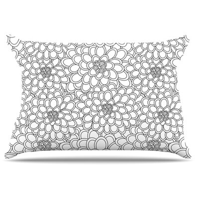 Flowers Pillowcase Size: Standard