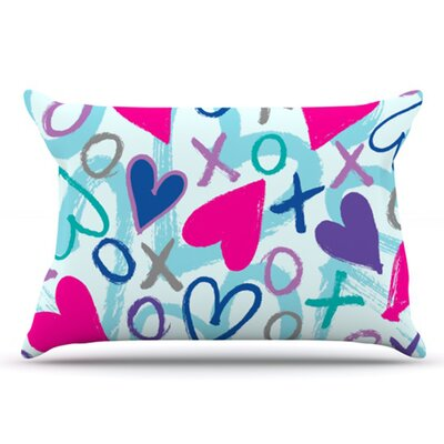 Hearts A Flutter Pillowcase Size: King