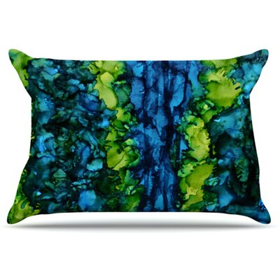 Drop Pillowcase Size: King, Color: Green