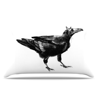 Raven Pillowcase Size: King