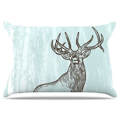 Elk Scene Pillowcase Size: Standard