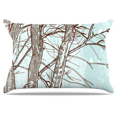 Winter Trees Pillowcase Size: King