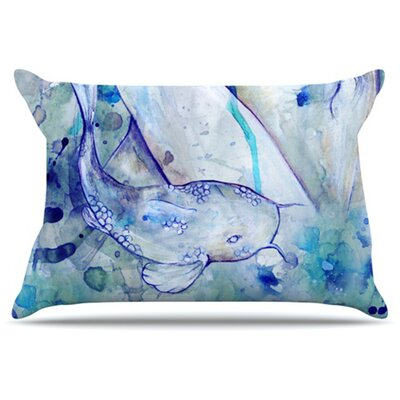 Koi Playing Pillowcase Size: King