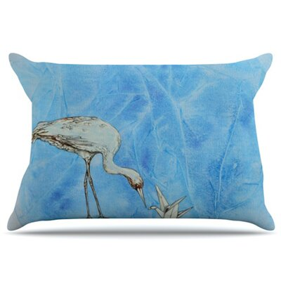 Crane Pillowcase Size: Standard