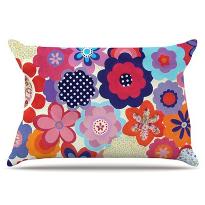 Patchwork Flowers Pillowcase Size: King