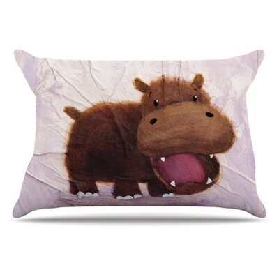 The Happy Hippo Pillowcase Size: Standard