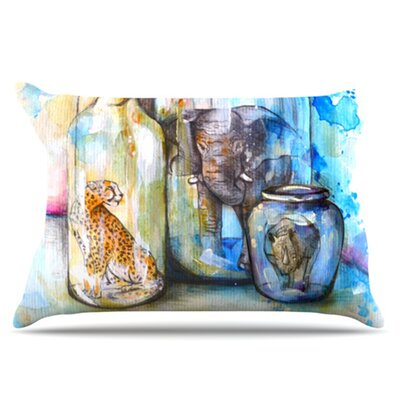 Bottled Animals Pillowcase Size: King