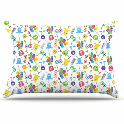 Fun Creatures Pillowcase Size: King