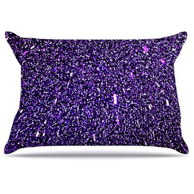 Purple Dots Pillowcase Size: King