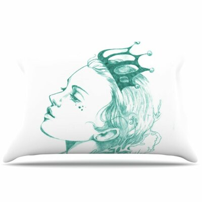 Queen of The Sea Pillowcase Size: Standard, Color: Green