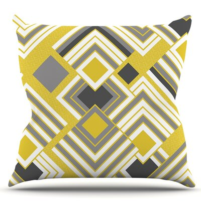 Luca by Jacqueline Milton Throw Pillow Size: 20 H x 20 W x 4 D, Color: Gold