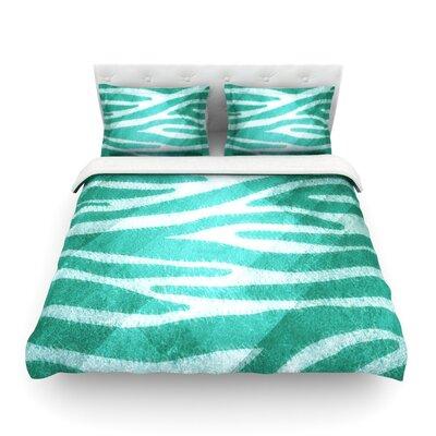 Furniture-KESS InHouse Zebra Print Texture Duvet Cover Collection