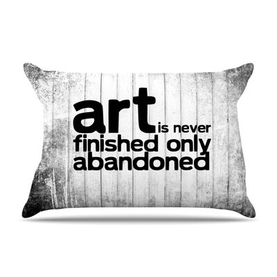 Art Never Finished Featherweight Pillow Sham Size: Queen, Fabric: Woven Polyester