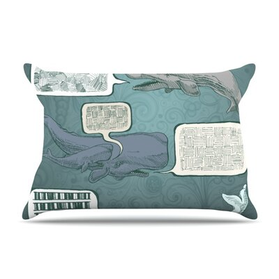 Whale Talk by Sophy Tuttle Featherweight Pillow Sham Size: Queen, Fabric: Woven Polyester