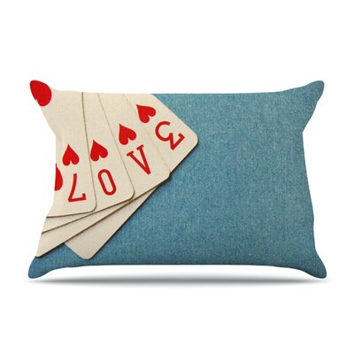 Love by Skye Zambrana Featherweight Pillow Sham Size: King, Fabric: Woven Polyester